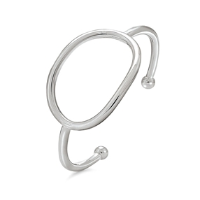Metal Chic Silver Plated Bangle Bracelet-