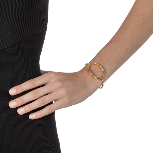 Metal Chic Yellow Gold Plated Cuff Bracelet-