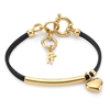 Style Stories Black Leather Cord Bracelet