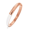 Style Candies Rose Gold Plated White Enamel Thin Bangle Bracelet