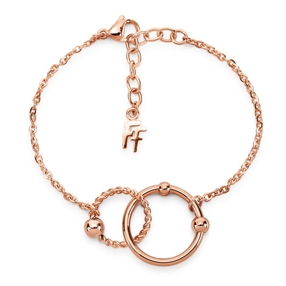 Style Bonding Rose Gold Plated Bracelet-
