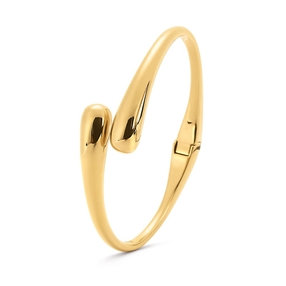 Style Drops Yellow Gold Plated Bangle Bracelet-