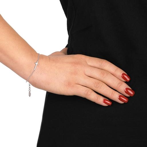 Carma Silver Plated Brass Bracelet-