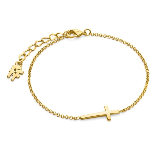Carma 18k Yellow Gold Plated Brass Bracelet-