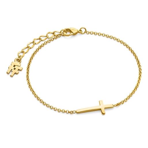 Carma 18k Yellow Gold Plated Brass Βραχιόλι-