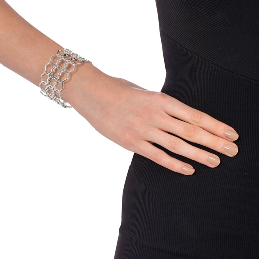 Chic Princess Silver Plated Bangle Bracelet-