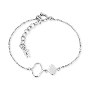 Chic Princess Silver Plated Bracelet-