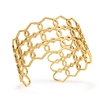 Chic Princess Yellow Gold Plated Bangle Bracelet