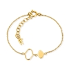 Chic Princess Yellow Gold Plated Βραχιόλι