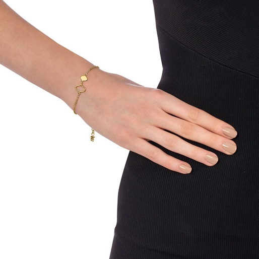 Chic Princess Yellow Gold Plated Βραχιόλι-