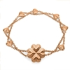 Heart4Heart Blossom Rose Gold Plated Bracelet