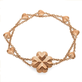 Heart4Heart Blossom Rose Gold Plated Bracelet-