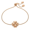 Heart4Heart Blossom Rose Gold Plated Adjustable Bracelet