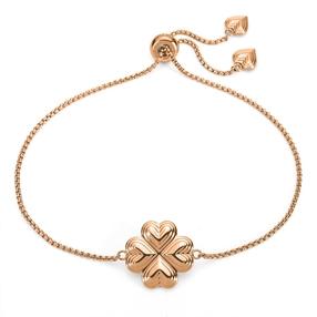 Heart4Heart Blossom Rose Gold Plated Ρυθμιζόμενο Βραχιόλι-