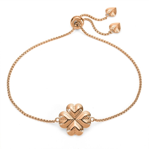 Heart4Heart Blossom Rose Gold Plated Adjustable Bracelet-