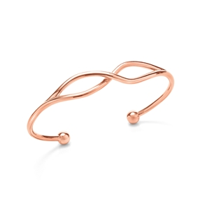 Fluidity 18k Rose Gold Plated Brass Cuff Bracelet-