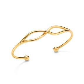 Fluidity 18k Yellow Gold Plated Brass Σταθερό Βραχιόλι-