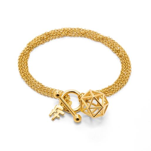 Stylesphere 18k Yellow Gold Plated Brass Βραχιόλι-