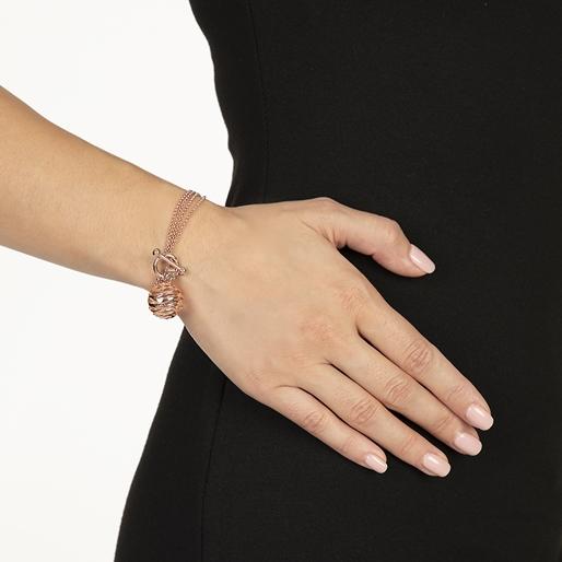 Stylesphere 18k Rose Gold Plated Brass Βραχιόλι-