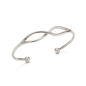 Fluidity Silver Plated Brass Cuff Bracelet-