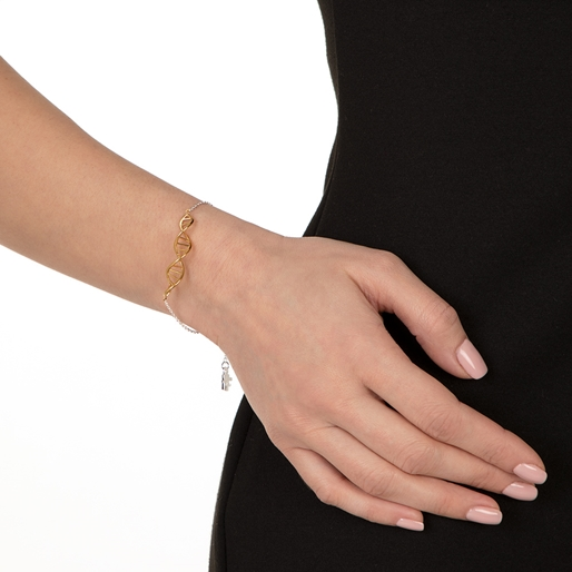 Style DNA Silver 925 18k Yellow Gold Plated Bracelet-
