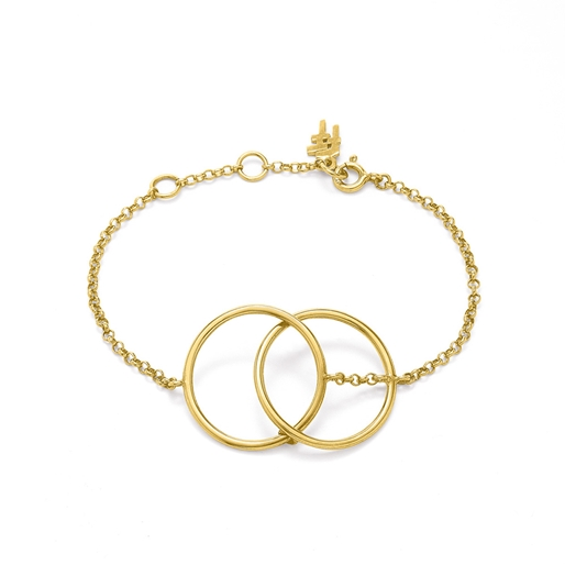 Link Up Silver 925 18k Yellow Gold Plated Βραχιόλι-
