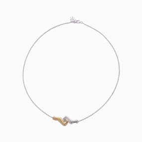 Psyche Silver 925° Chain Bracelet With 18K Yellow Gold Plating-