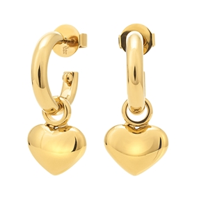 Style Stories Yellow Gold Plated Short Earrings-
