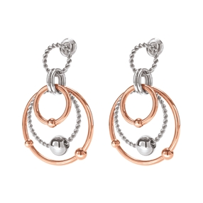 Style Bonding Silver Plated Earrings-
