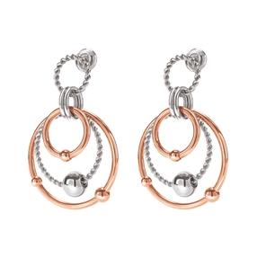 Style Bonding Silver Plated Σκουλαρίκια-