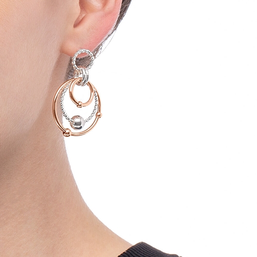 Style Bonding Silver Plated Earrings -