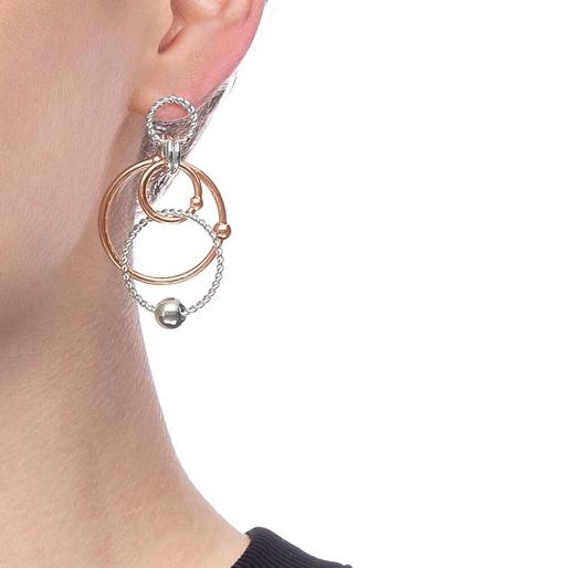Style Bonding Silver Plated Long Earrings -