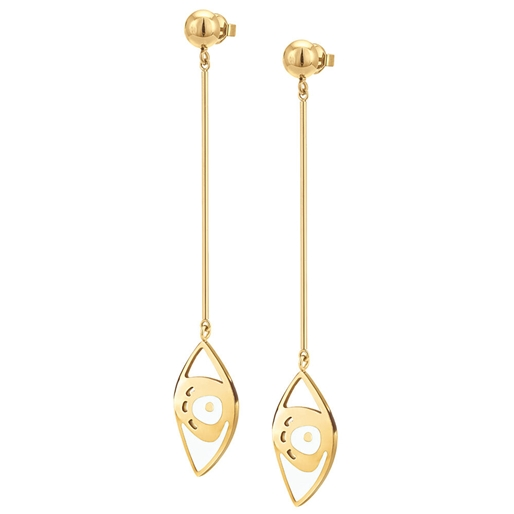 FF Talisman Yellow Gold Plated Long Earrings-