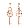 On Key Rose Gold Plated Long Earrings