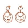 Style Bonding Rose Gold Plated Earrings