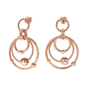 Style Bonding Rose Gold Plated Earrings-