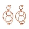 Style Bonding Rose Gold Plated Long Earrings