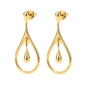 Style Drops Yellow Gold Plated Short Earrings-