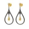Style Drops Gun Plated Short Earrings