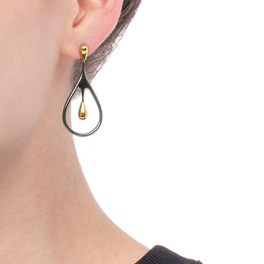 Style Drops Gun Plated Short Earrings-