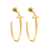 Carma 18k Yellow Gold Plated Brass Hoop Earrings