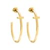 Carma 18k Yellow Gold Plated Brass Hoop Earrings