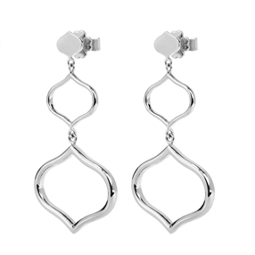 Chic Princess Silver Plated Long Earrings-