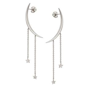 Wishing On Silver 925 Long Earrings-