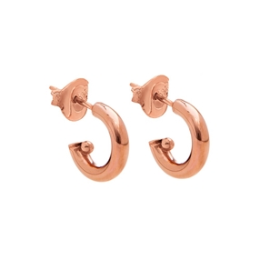 Pearl Fusion Silver 925 18k Rose Gold Plated Hoop Earrings-