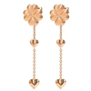 Heart4Heart Blossom Rose Gold Plated Long Earrings