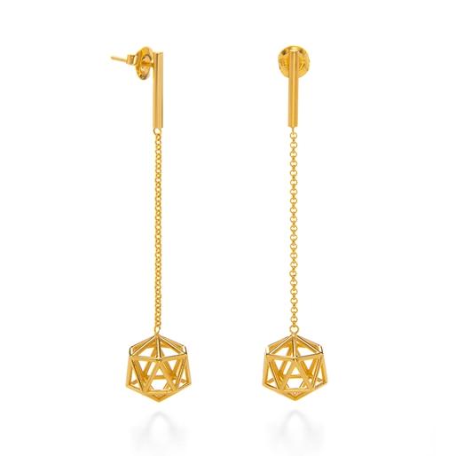 Stylesphere 18k Yellow Gold Plated Brass Μακριά Σκουλαρίκια-