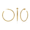 Bi-Μetal Chic 18K Yellow Gold Plated Brass Large Hoops