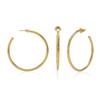 Bi-Μetal Chic 18K Yellow Gold Plated Brass Large Hoops