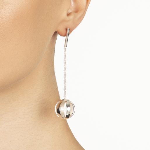 Stylesphere Silver Plated Brass Μακριά Σκουλαρίκια-